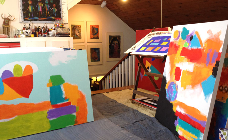 Artist studio of Sharon Pierce McCullough